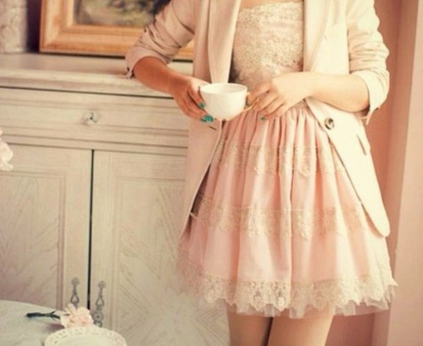 dress vintage salmon dresses classy lace dress