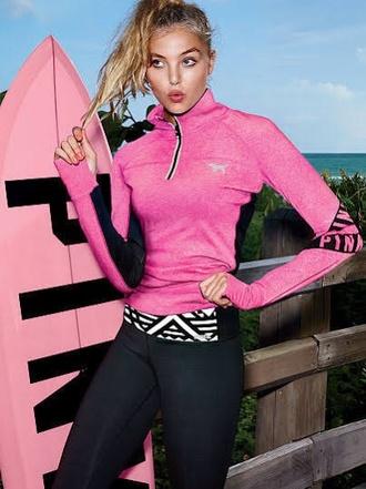 jacket victoria's secret pink half zip