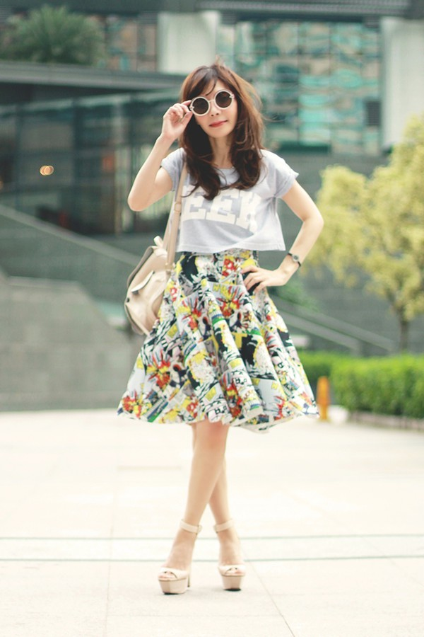 mochaccinoland top sunglasses skirt