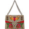 Gucci - moth embroidered dionysus shoulder bag - women - canvas - one size, canvas
