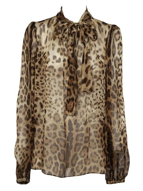 Dolce & Gabbana blouse print leopard print top