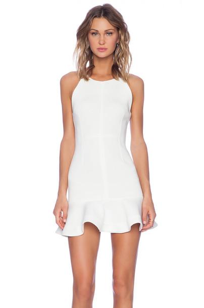 Shakuhachi dress flare white