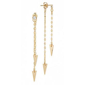 jewels gold arrow earrings gold earrings tai tai jewelry bikiniluxe