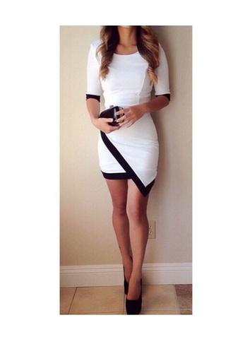 dress short white dress