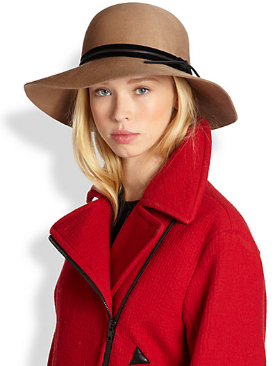 Rag & Bone - Dunaway Leather-Trimmed Felt Hat - Saks.com