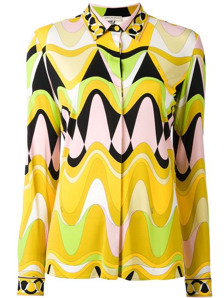 Emilio Pucci - triangle printed shirt - women - Silk/Viscose - 46, Silk/Viscose