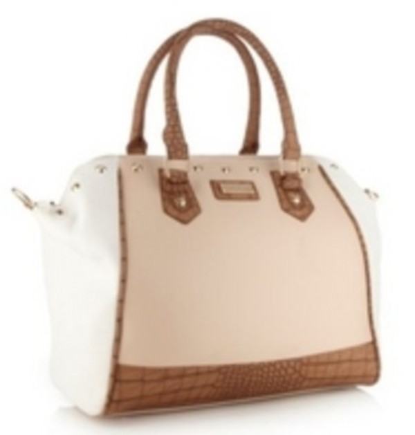 bag lipsy white beige brown snake skin