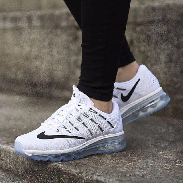 ba5f3cf2b5a Women's Nike Air Max 2016 Running Shoes Sz 9 White Athletic 806772 100 |  eBay