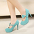 Free Shipping Fashion Round Head With Bow Thin High Heels Shoes For Lady   XZGG0104 on Luulla