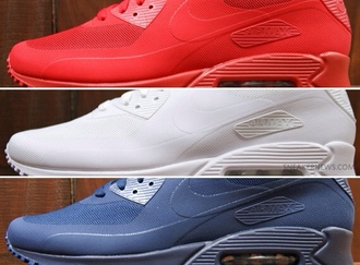 shoes red white blue nike nike 90 sneakers white red blue independence day nike air max 90 nike air max 90 hyperfuse hyperfuse women size american flag