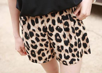 Womens Trendy Leopard Grain Leisure Shorts Bandwidth Casual Stretchy Pants · Parisienne · Online Store Powered by Storenvy