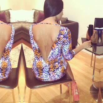 dress pattern leopard print orange dress purple