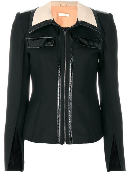 Ssheena jacket zip women black wool