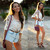 Stelly Lace Top, Oohlaluxe Denim Shorts - We're Driving Cadillacs in our Dreams - Jessica R. | LOOKBOOK