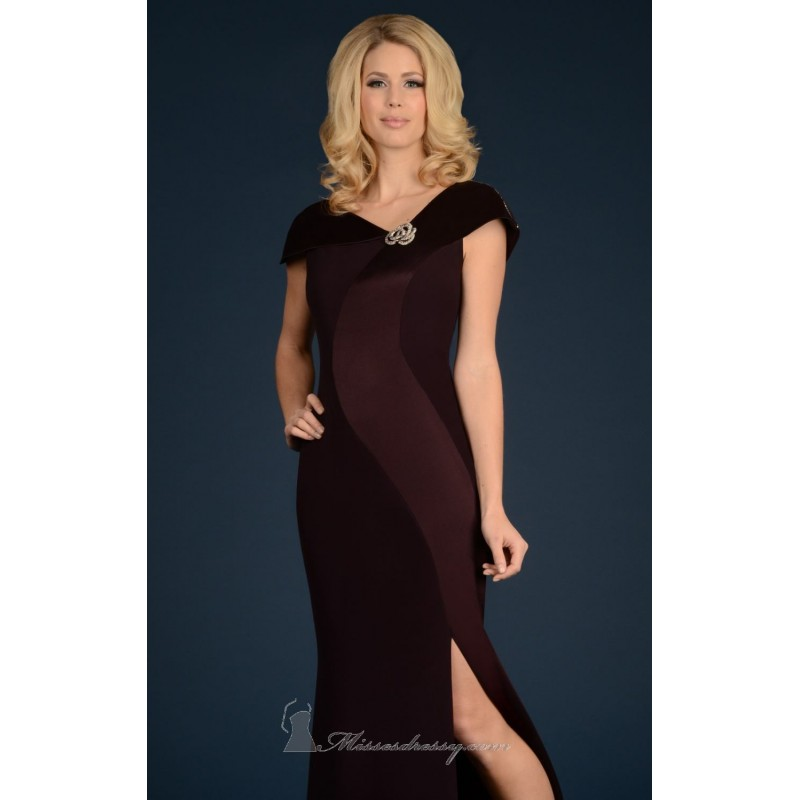 Asymmetrical Neck Gown by Daymor Couture 706 - Bonny Evening Dresses Online