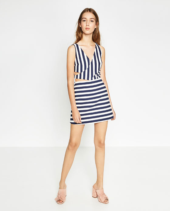 On Clearance available hot sale online STRIPED JUMPSUIT DRESS - JUMPSUITS-WOMAN | ZARA United States