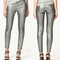 New metallics silve sexy cotton slim skinny pencil jeans pants leggings trousers
