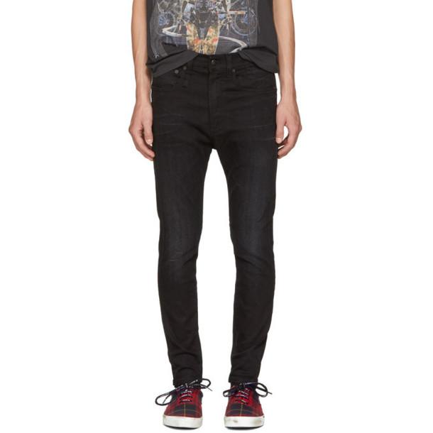 R13 Black Drop Jeans
