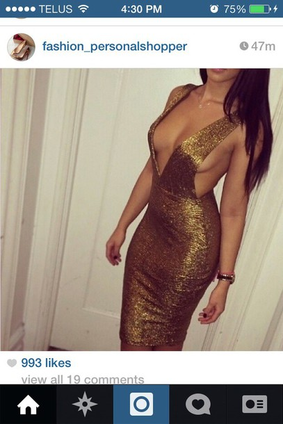 dress bronze dress gold. gold dress bodycon dress
