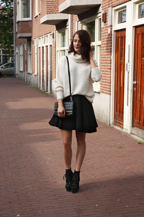 fashion fillers sweater skirt bag shoes