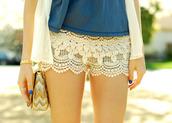 shorts,beautiful,shorts cream,kant,clothes,sexy,white,creamy white,wearing fashion fluently