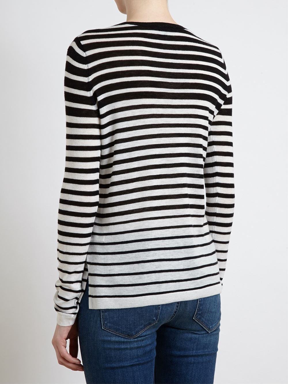 Vince striped wool crewneck