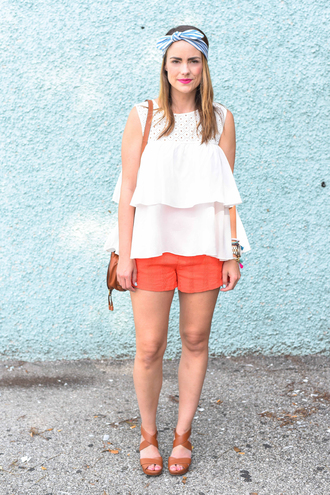 live more beautifully blogger tank top shorts jewels shoes