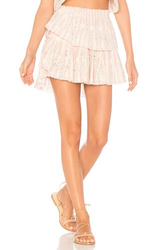 skirt mini skirt mini ruffle pink