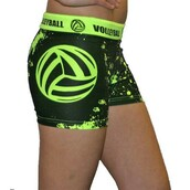 shorts,volleyball,spandex,glow in the dark,sportswear,blackandgreen,splatter,vball,tightfit,fitness