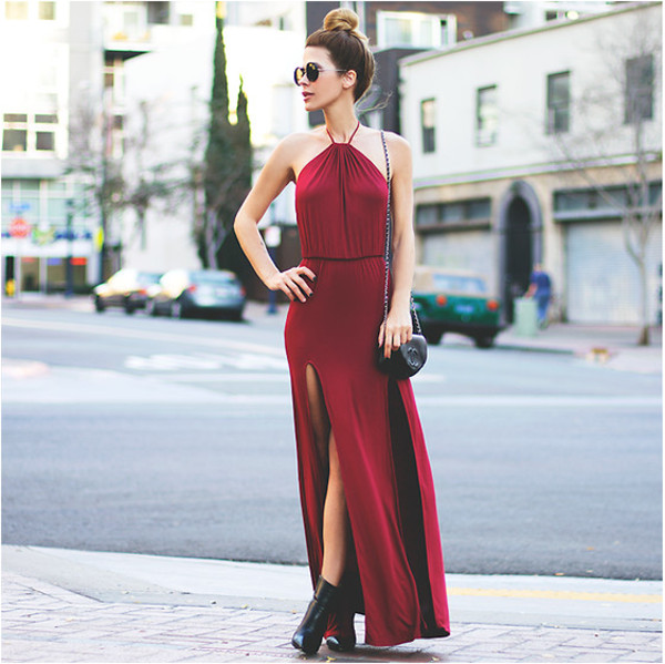 dress maxi dress red dress icifashion ici fashion maxi open back dresses slit dress
