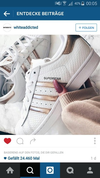 shoes adidas adidas superstars superstar metallic gold white