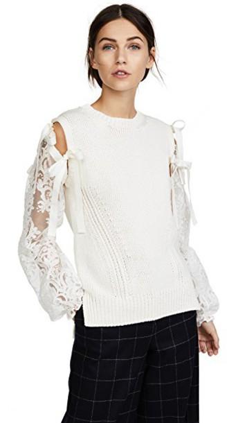 No. 21 sweater cream
