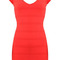 Cap sleeve halter dress red n003r:buy at sheinside