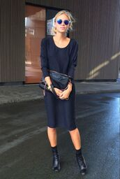 dress,shift dress,navy dress,midi dress,summer,shirt dress,black,minimalist