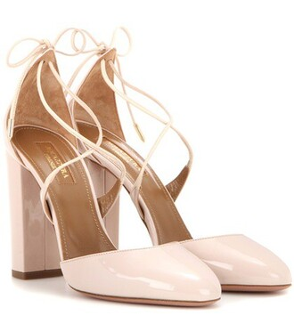 pumps leather beige shoes