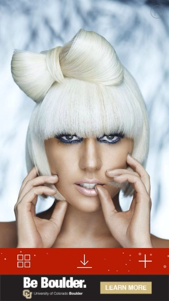 hair accessories lady gaga white hair