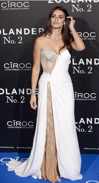 dress bustier bustier dress penelope cruz gown prom dress wedding dress
