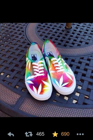 vans weed print tie dye shoes shoes vans weed flower colorful
