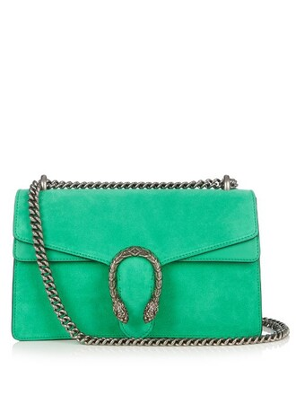 bag shoulder bag suede green
