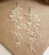 jewels,earings,lace