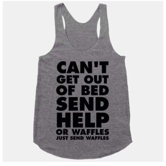 grey waffles tank top bedding sleepwear funny funny t-shirt food nightwear