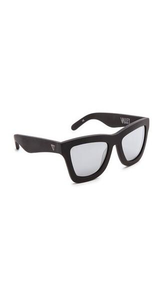 matte sunglasses silver black matte black