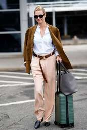 shoes,fall outfits,karlie kloss,model off-duty,streetstyle,pants,coat