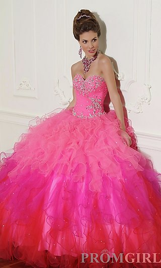 Prom dresses, celebrity dresses, sexy evening gowns at promgirl: beaded tulle quinceanera dress by mori lee