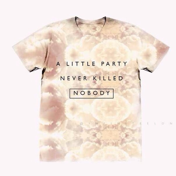t-shirt clouds pink orange fergie the great gatsby so nice