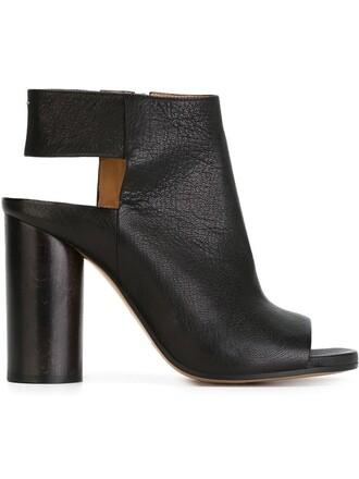 heel chunky heel sandals black shoes