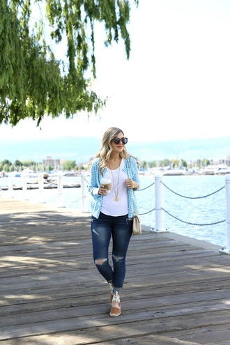 suburban faux-pas blogger jacket shirt shoes sunglasses jeans