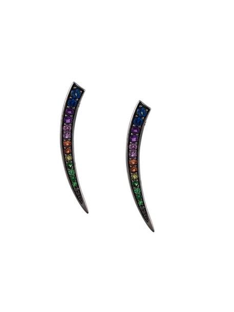 women earrings gold black jewels