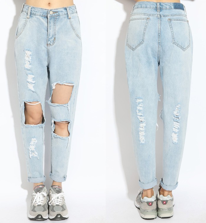 Jeans With Extreme Cutouts