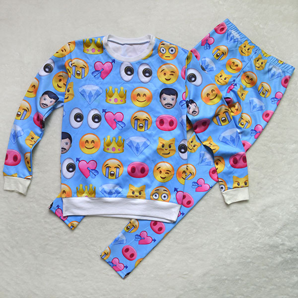 Nouvelles femmes hoodies costume. harajuku 3d d'impression de dessin animé emoji expression sweatshirt pants dans de sur Aliexpress.com